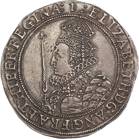 1601 Half Crown EF Obverse