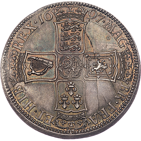 1697 Half Crown Mint state Reverse