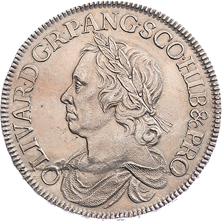 1658 Crown EF Obverse
