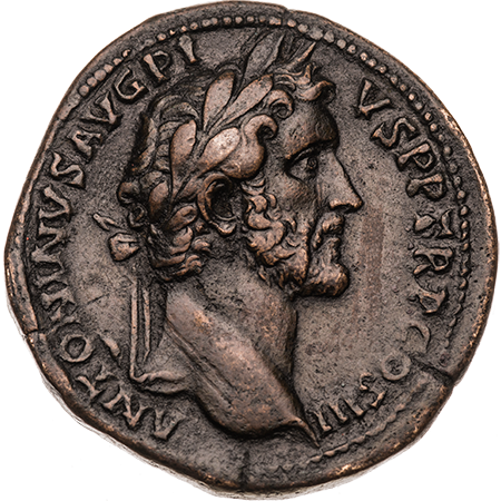 131 Sestertius Good VF Obverse