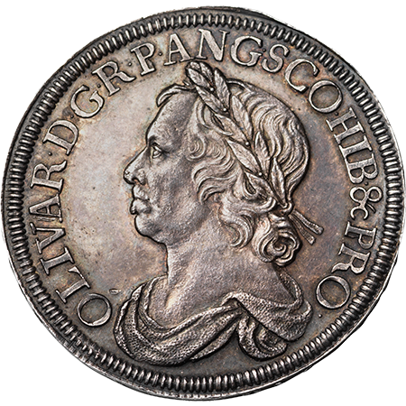 1658 Crown Virt Mint Obverse