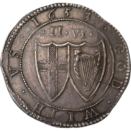 1653 Half Crown NEF Obverse