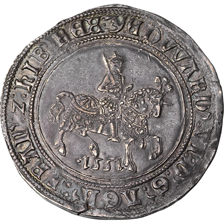 1551 Half Crown EF Obverse