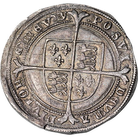 1551 Half Crown EF Reverse