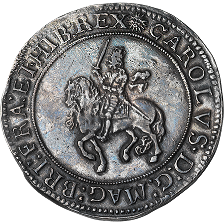 1645 Crown EF Obverse
