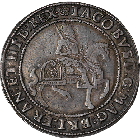 1605 Half Crown VF Obverse
