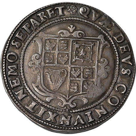 1605 Half Crown VF Reverse