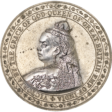 1887 Crown GEF Obverse