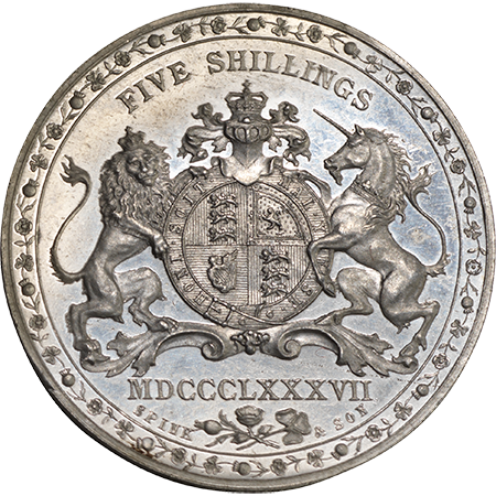 1887 Crown GEF Reverse