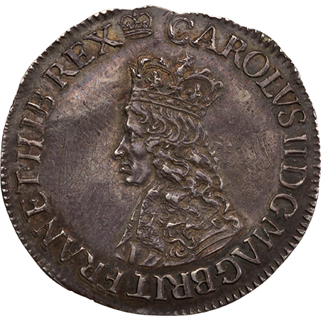 1660 Sixpence EF Obverse