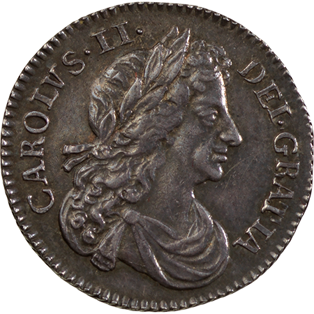 1679 Sixpence GEF Obverse