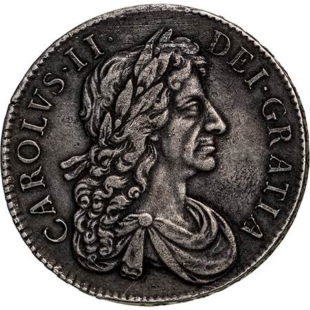 1681 Crown GVF Obverse