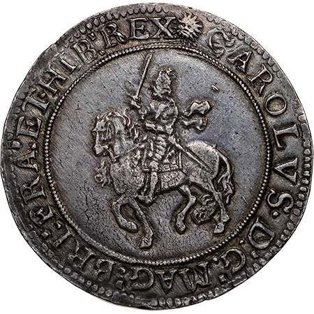 1645 Crown GVF Obverse