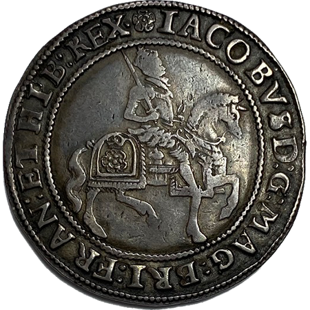 1605 Half Crown GVF Obverse