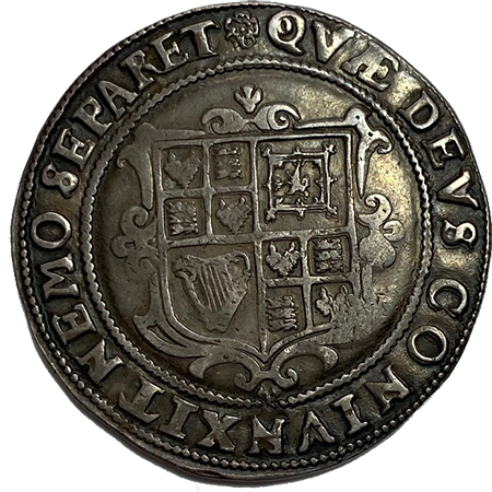 1605 Half Crown GVF Reverse