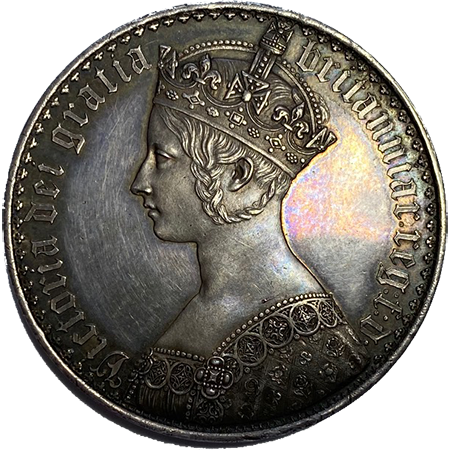 1847 Crown virt mint Obverse