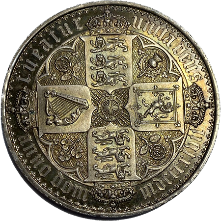 1847 Crown virt mint Reverse