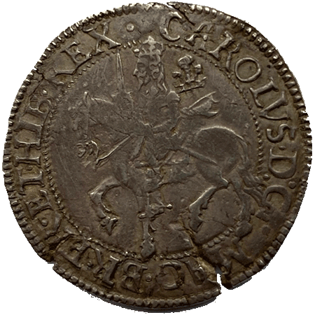 1642 Half Crown GVF Obverse