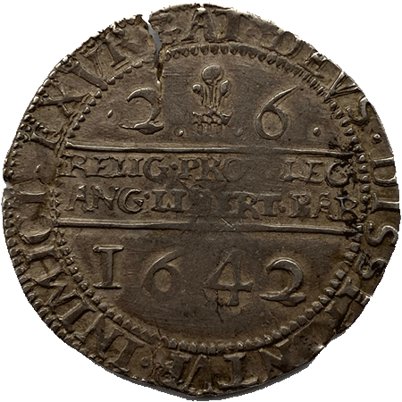 1642 Half Crown GVF Reverse